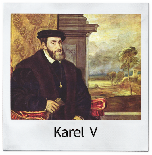 Karel V polaroid